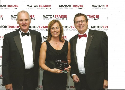 L to R Ken Powell, Heather Powell and Stuart James, Director of the Independent Garage Association