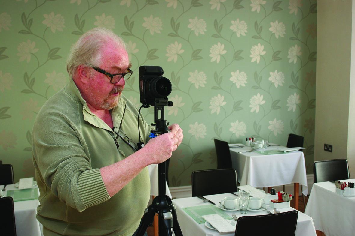 Nevil Swinchatt from Cornwall Business Photos shooting the tour