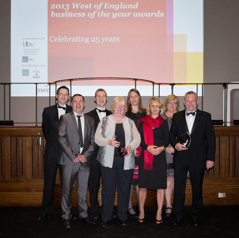 The Watson-Marlow team receiving its award with MD David Cole far left