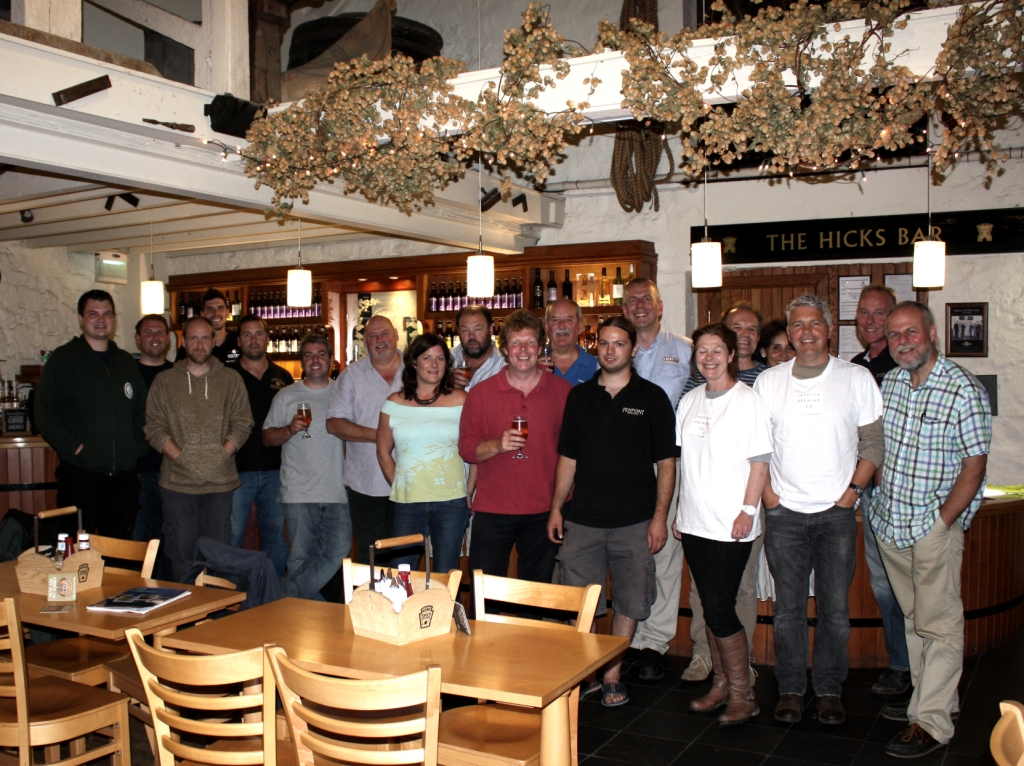 Cornwall Brewers Alliance members pictured at their recent meeting at St Austell Brewery