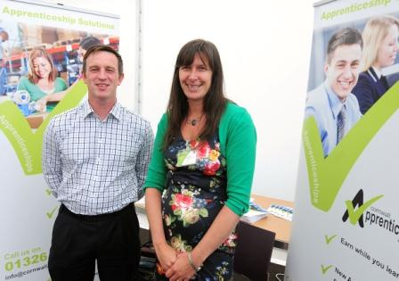Sam Snowdon and Clare Harris of the Cornwall Apprenticeship Agency