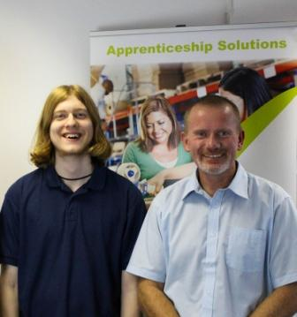 Nigel Buxton of Primary PC (right) with apprentice Samson Clark