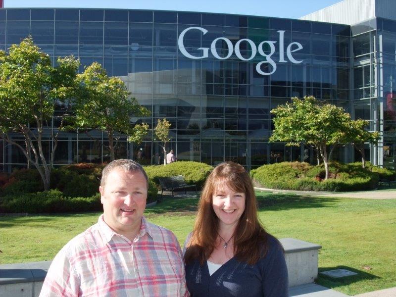 Rob and Andrea Edlin outside Google HQ