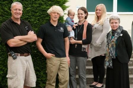 Some of the new Truro High School staff. L to R: Simon Roberts, Charlie Haynes, Emma Menmuir and her son Tom, Ellie Bush and Andrea Simmonds