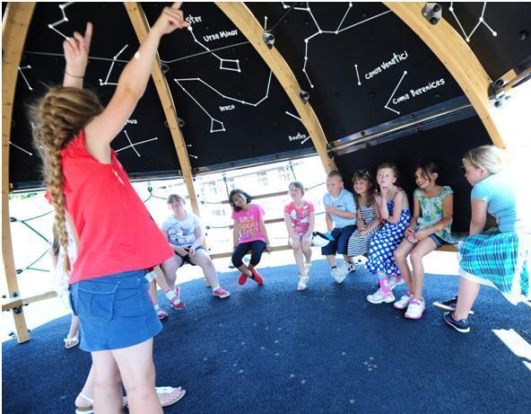 School children enjoying the Play Planetarium