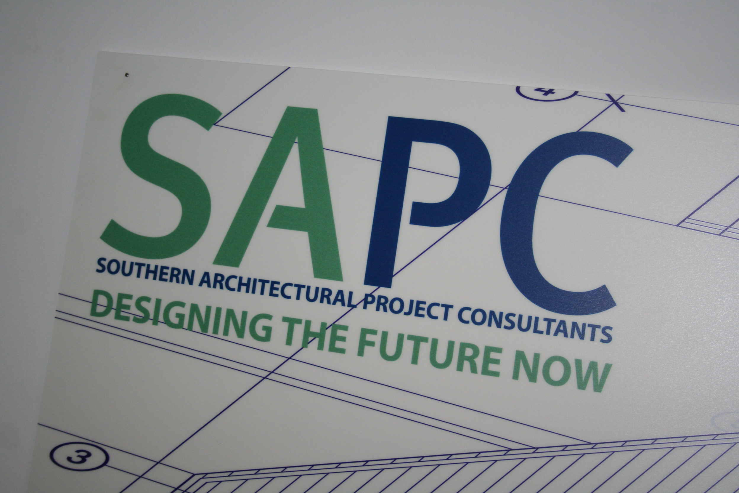 St Austell Printing Company's logo was transformed into Southern Architectural Planning Consultants for the latest Rosamunde Pilcher film