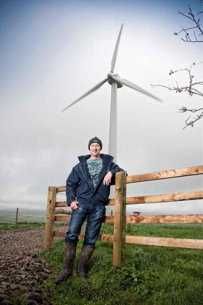 Farmer Matthew Rowe on his dairy farm at Liskeard