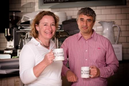 Juliet Davenport, founder and chief executive of Good Energy, with Chris Hugo, commercial director at Watergate Bay Hotel