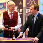 L-R Marc Bishop and George Eustice at Westminster food and drink event