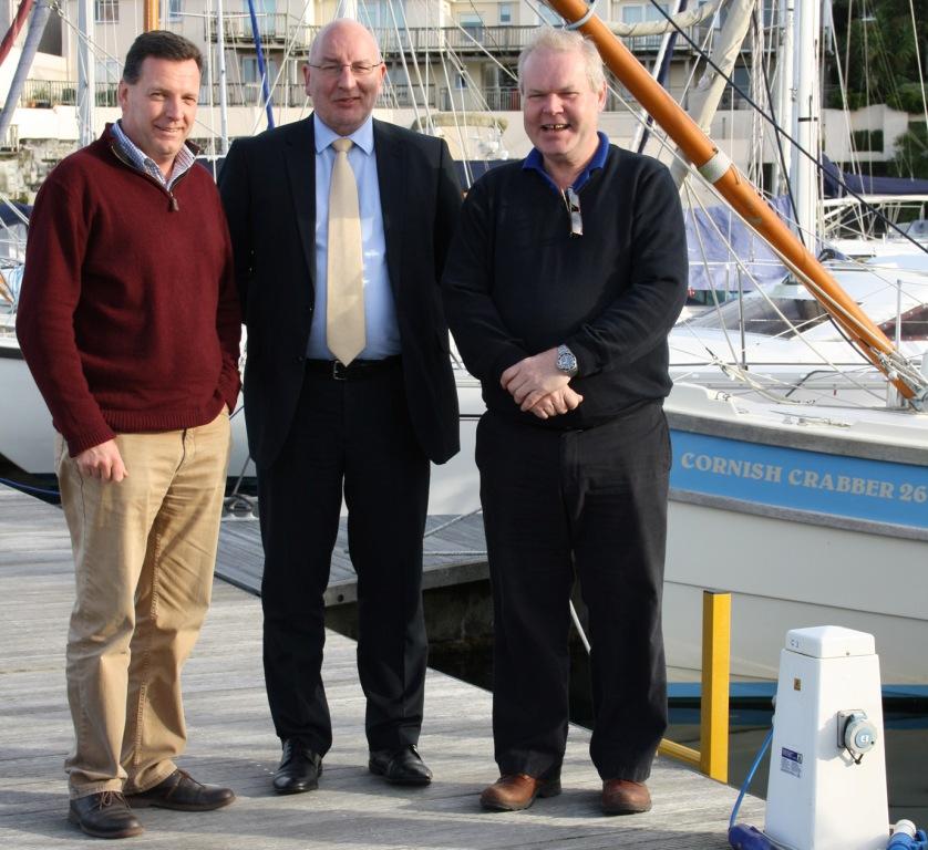 L-R: Peter Thomas, Paul Wickes and John Langan