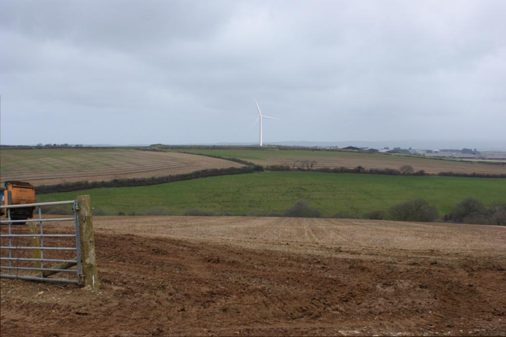 One of CEC's photomontages showing a wind turbine proposal in Cornwall
