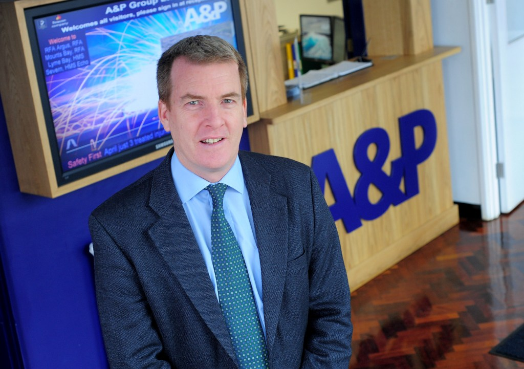 A&P Falmouth's port operations director, Mike Reynolds