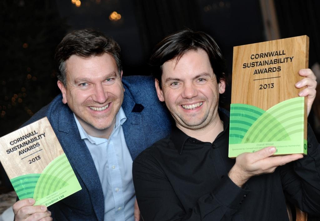 Tim Bryant (l) and Matt Trevaskis of ecodrive