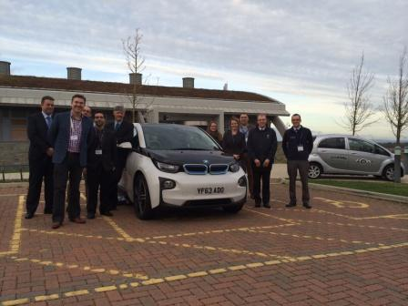 ecodrive Director Tim Bryant and the delegates at last week's Fast Forward your Low Carbon Transport event at AIR, Falmouth