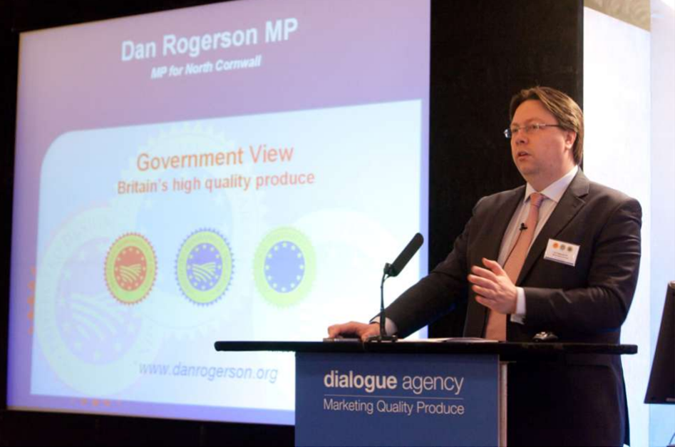Dan Rogerson addresses Protected Food Names conference