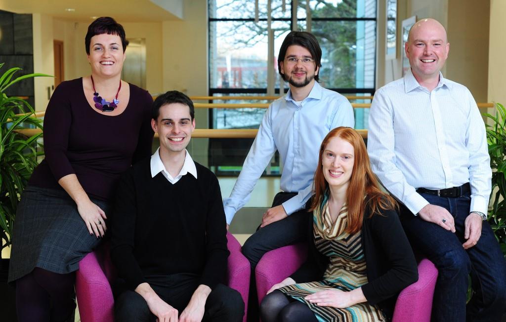 l-r: Sarah Trethowan, Matthew Cotten, Martijn Haagen, Mary Walsh, Jonathan Trethowan