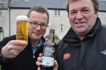 Hugh Fearnley-Whittingstall (l) with Steve Skinner