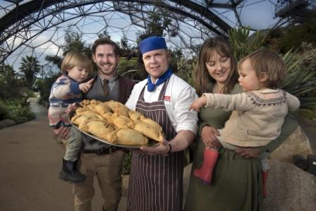 James Strawbridge (and Indiana) with Eden head chef Tony Trenerry and his wife Holly Strawbridge (and Pippin)