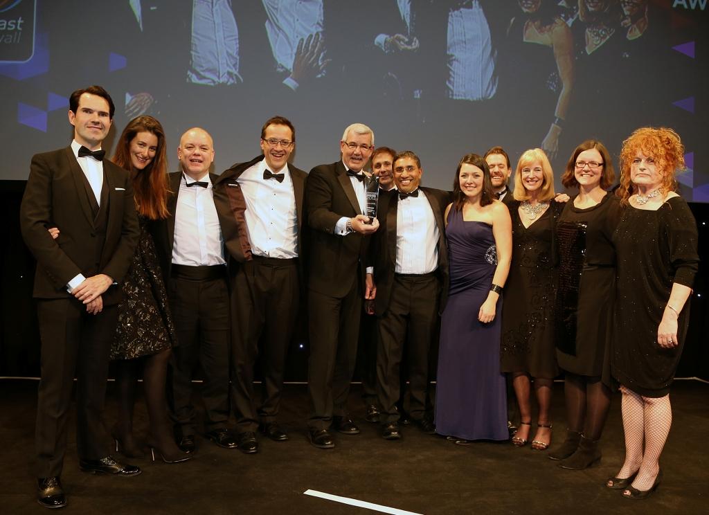 The Superfast Cornwall team receive their award