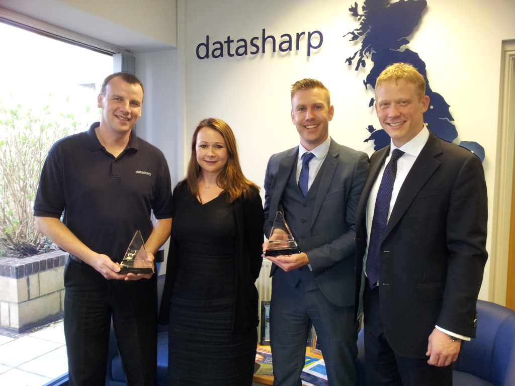 L-R: Allan Williams, Datasharp MD Jane Cockroft, Ben Shepherd and Tony Smith