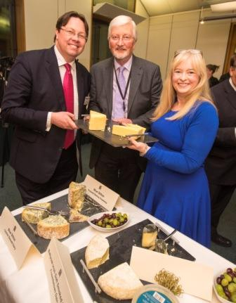 L-R: Dan Rogerson MP, Lord Jones of Cheltenham and Judith Bryans of Dairy UK