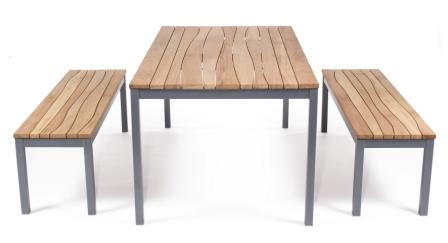 MARK wave topping table and bench