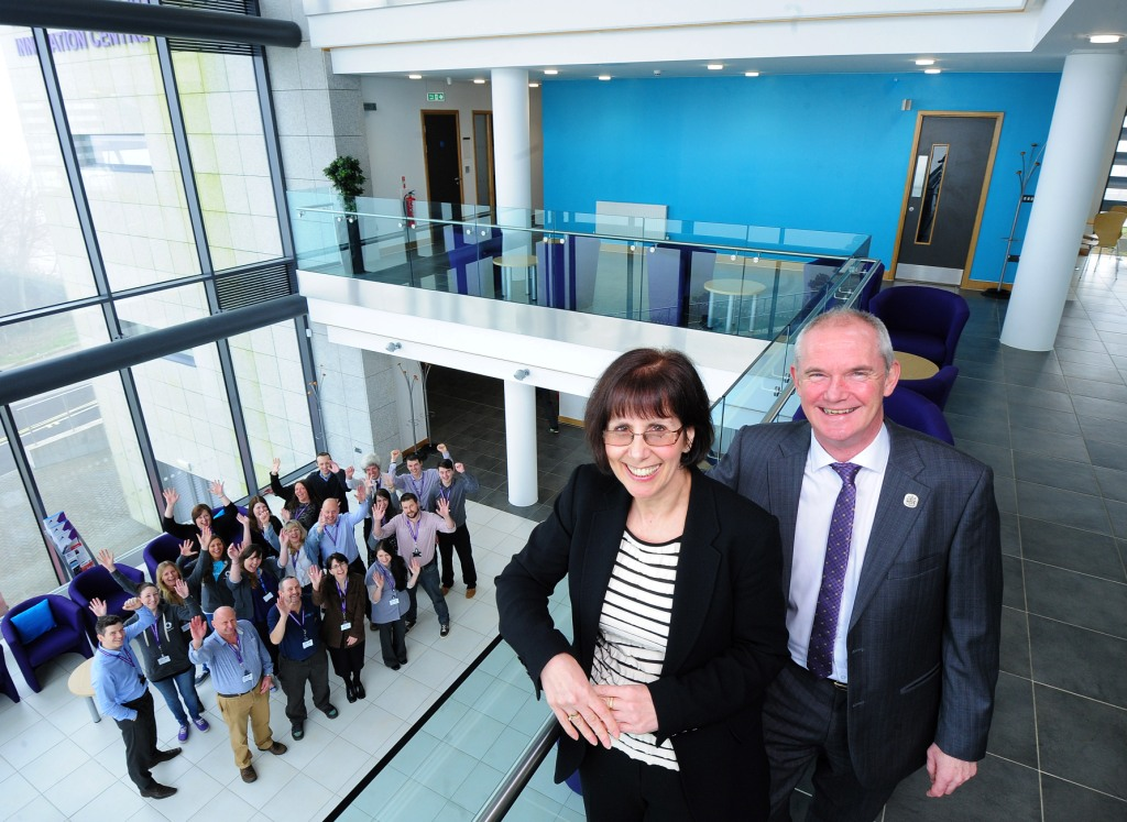 Karen Murray and Bernard Curren at the Health and Wellbeing Innovation Centre