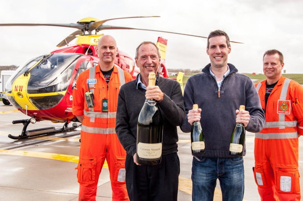 Air Ambulance Paramedic Mick McLachlan, Bob and Sam Lindo, Air Ambulance Paramedic Stuart Croft