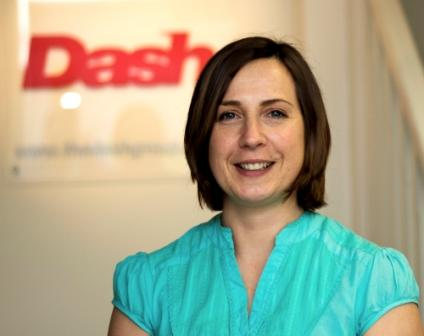 New Dash marketing manager, Angie Tiller