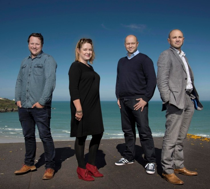 l-r: creative director, Simon Deverell; communications director, Dawn Bebe; managing director, Phil Geraghty; chairman, Rob Love