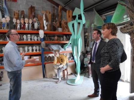 Cornwall 100 Club members visit the Sculpture Workshop
