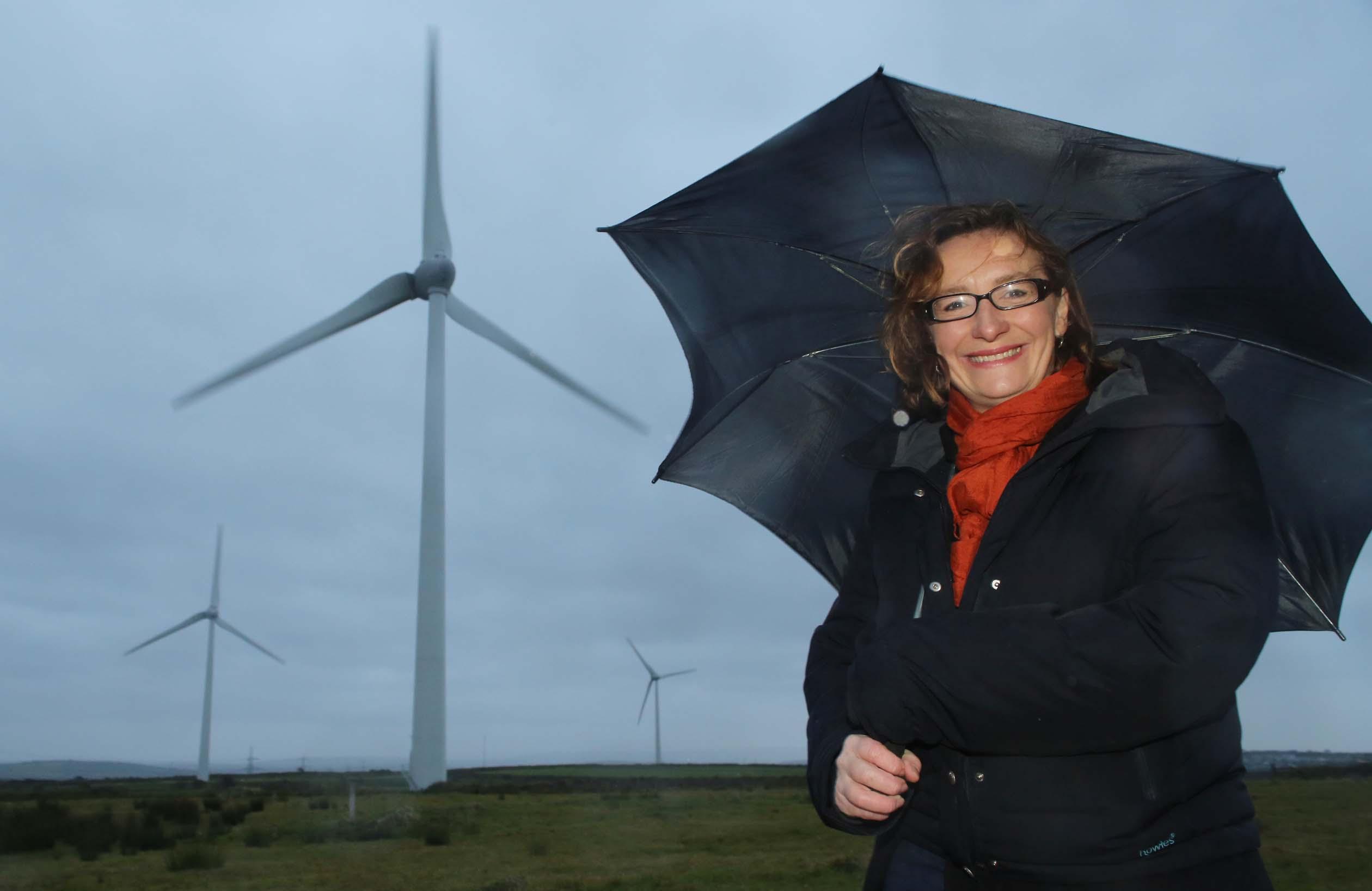 Juliet Davenport at the Delabole wind farm