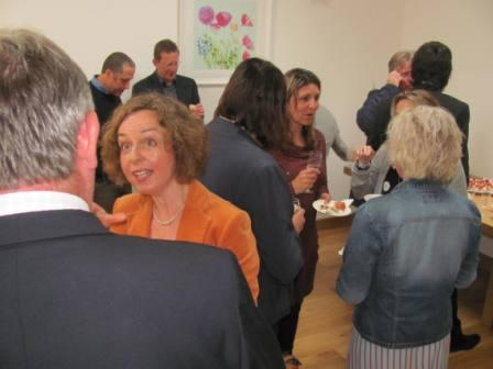 Networking at the Bluesky Business launch