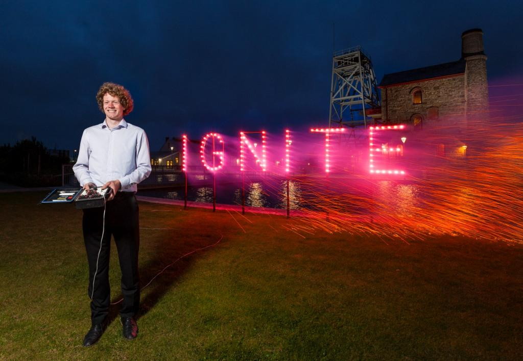 Last year's winner, Giel Spierings, launches Ignite 2014