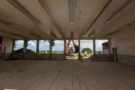 Demolition work at Krowji