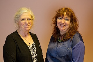 Mary Anson (l), managing partner of Anson Care Homes and Jayne Howard, director of Arts for Health Cornwall
