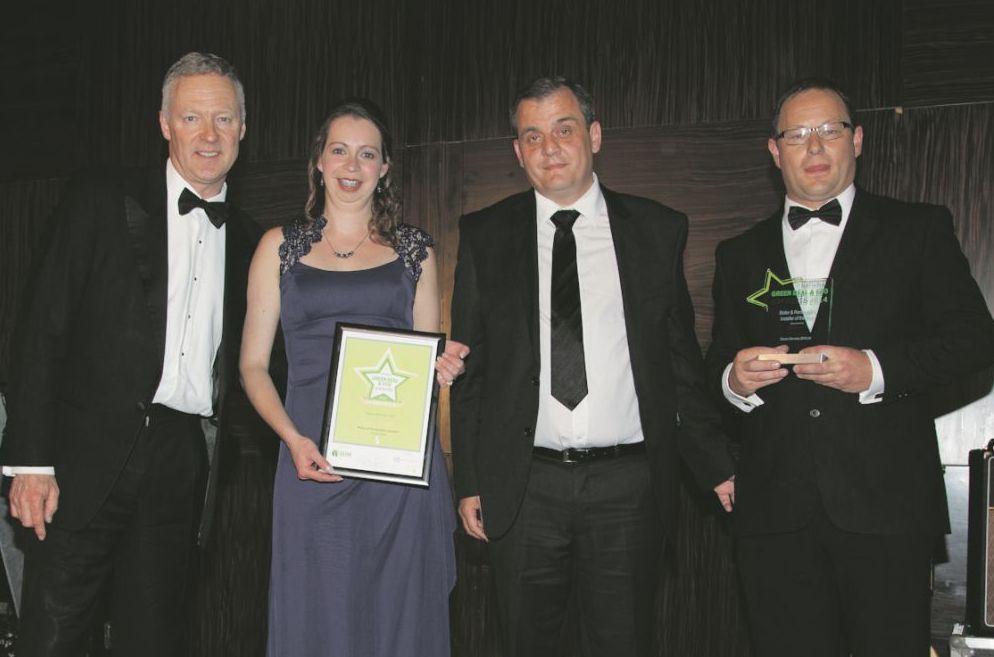 Award presented by Rory Bremner, Heather Turner of Ocean, Alex Tsimboykas of sponsor EUM Consultants, Jason White of Ocean