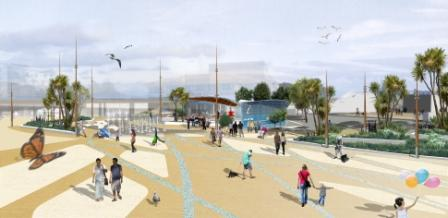 Artists impression of the Bournemouth Pier Approach