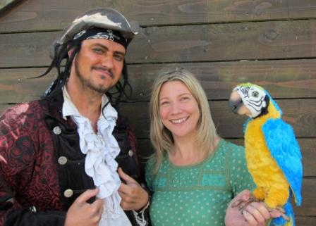 Nikki Smith and a Buccaneer Bay pirate