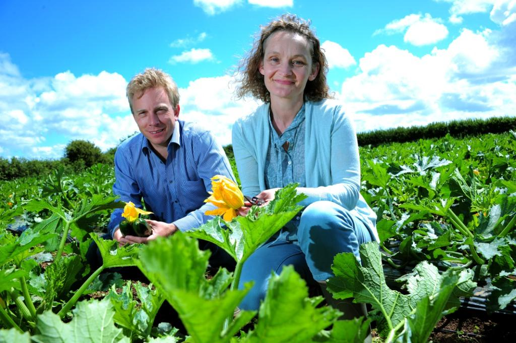 Professor Juliet Osborne (ESI) and Ellis Luckhurst (Riviera Produce)