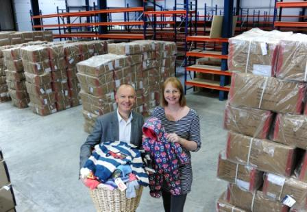 Frugi MD Lucy Jewson is pictured in the company's extended premises with Oxford Innovation business coach Peter Haycocks.
