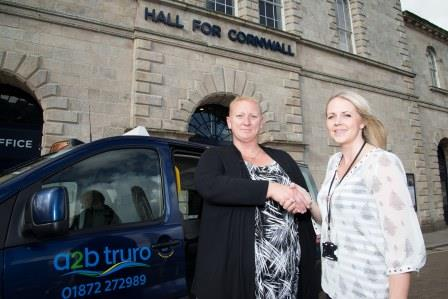 (L-R) Tracey Cass, Operations Manager at A2B Taxis and Katie Hill, Development Assistant at Hall For Cornwall.