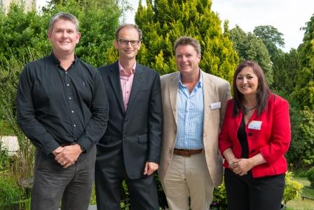 (L-R) Matt Giles (Project Direct, Get Set For Growth), Sam Winters  (Get Set For Growth Advisor), Nick Bailey (Sleeklight),  Heather Coupland (Get Set for Growth Advisor)