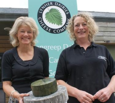 Lynher Dairies partner Catherine Mead (l) with technical manager, Sarah Barnes