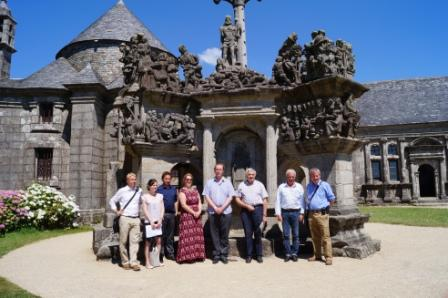 Julian German and representatives from Visit Cornwall in Finistère