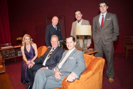 Julian Jenkins with the cast of Dial M For Murder