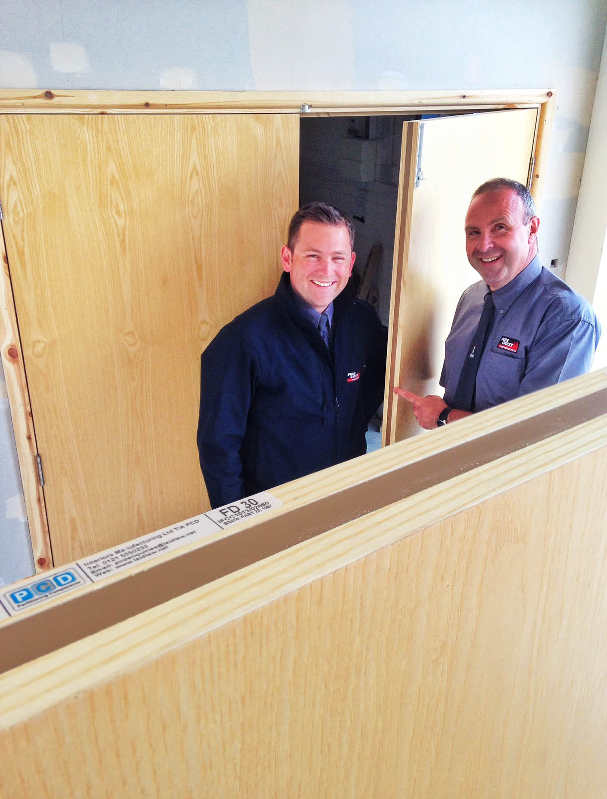 Fire Crest's operations director, Harry Hart (l), with MD Robert Catanzaro