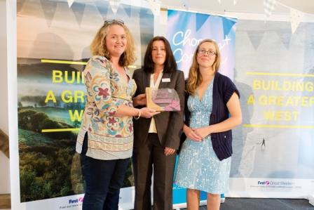 Champion of Champions, Tor Amran and Lucy Jones of The Cornish Food Box Company, with Maggie Treloar (centre) of award sponsor First Great Western