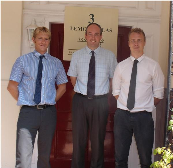 L-R: Jon Ramage, Chris Hunter and Joe Davidson