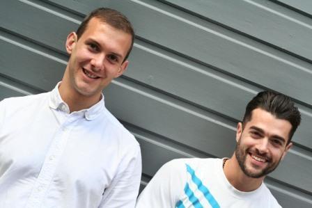 New 3WhiteHats recruits Adam Drake (l) and Andreas Ambarchian